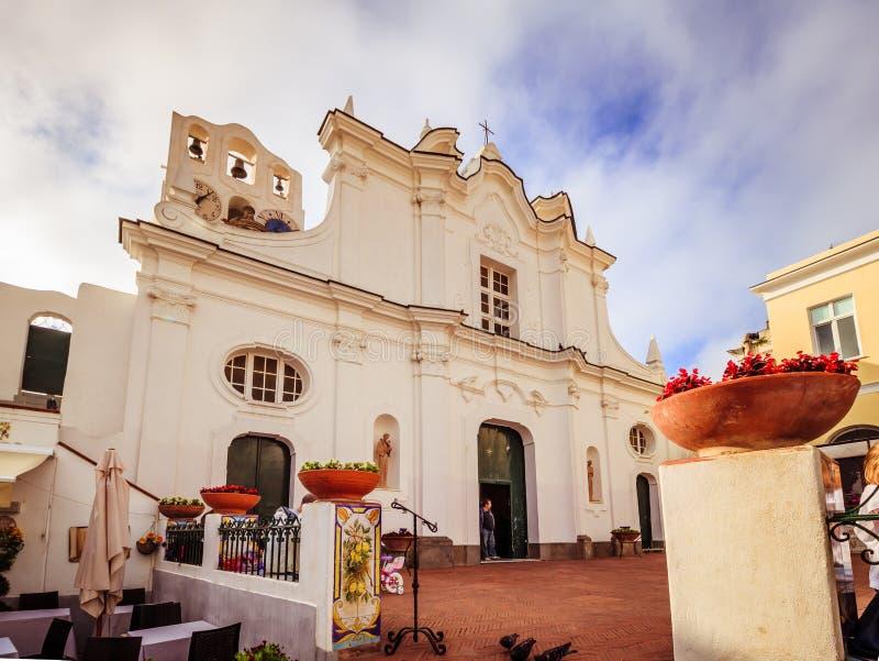 Kerk van Santa Sofia op het Eiland Capri, Italië royalty-vrije stock foto