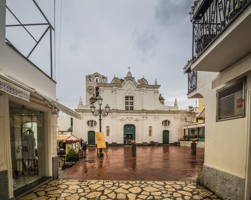 Kerk van Santa Sofia op het Eiland Capri, Italië royalty-vrije stock afbeelding