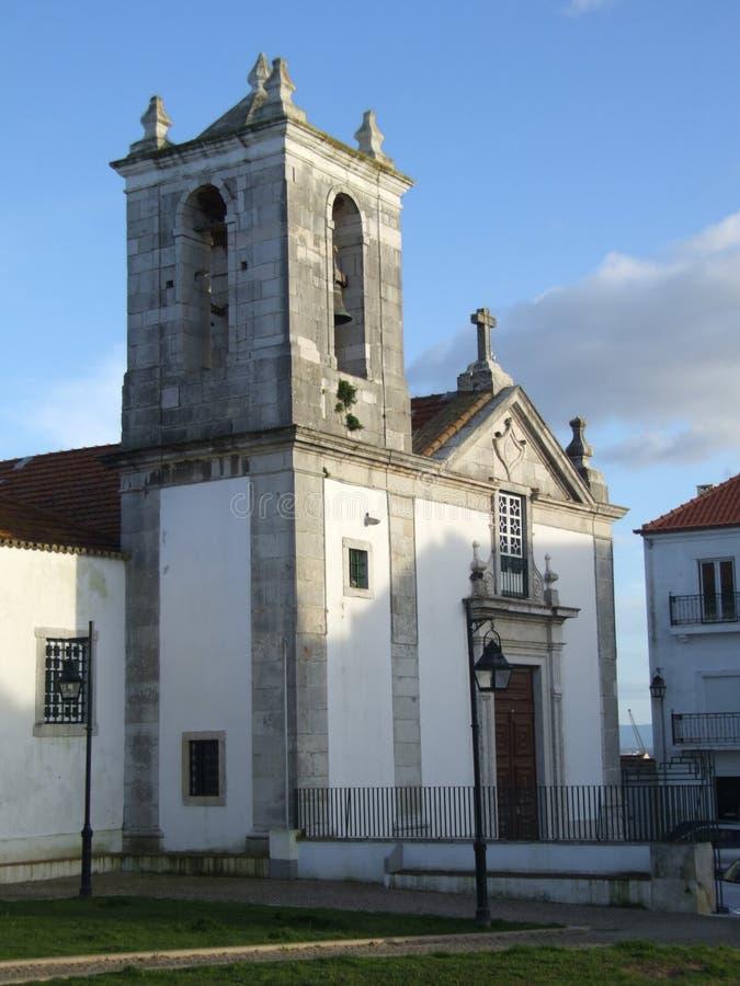 Kerk van Santiago - Portugal stock foto
