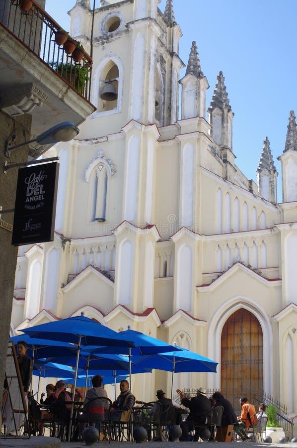 Kerk van Santo Angel Custodio in Havana, Cuba stock foto's