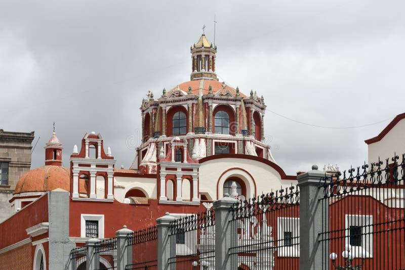 Kerk van Santo Domingo - Puebla, Mexico stock foto's