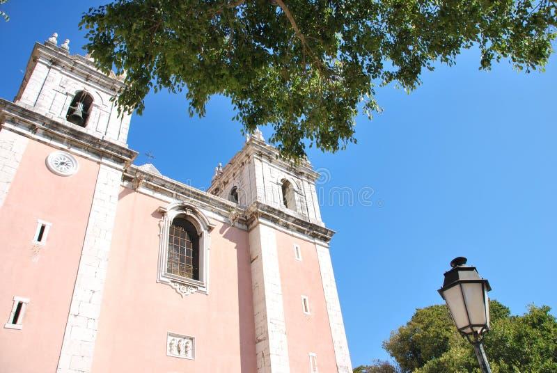 Kerk van Santos-o-Velho in Lissabon, Portugal royalty-vrije stock fotografie