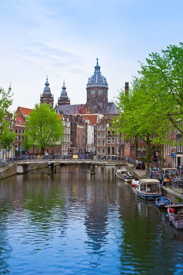 Kerk van Sinterklaas, Amsterdam, Holland stock fotografie