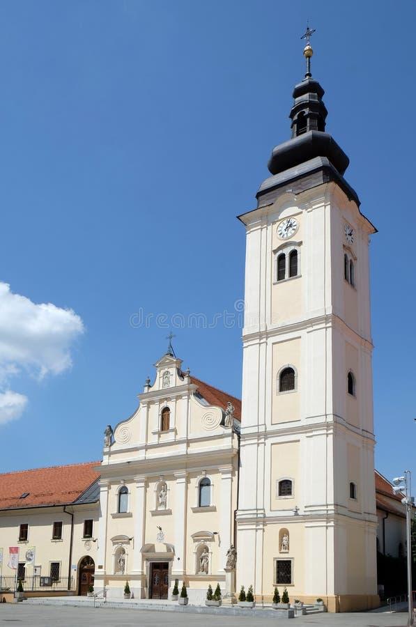 Kerk van Sinterklaas in Cakovec, Kroatië royalty-vrije stock afbeeldingen