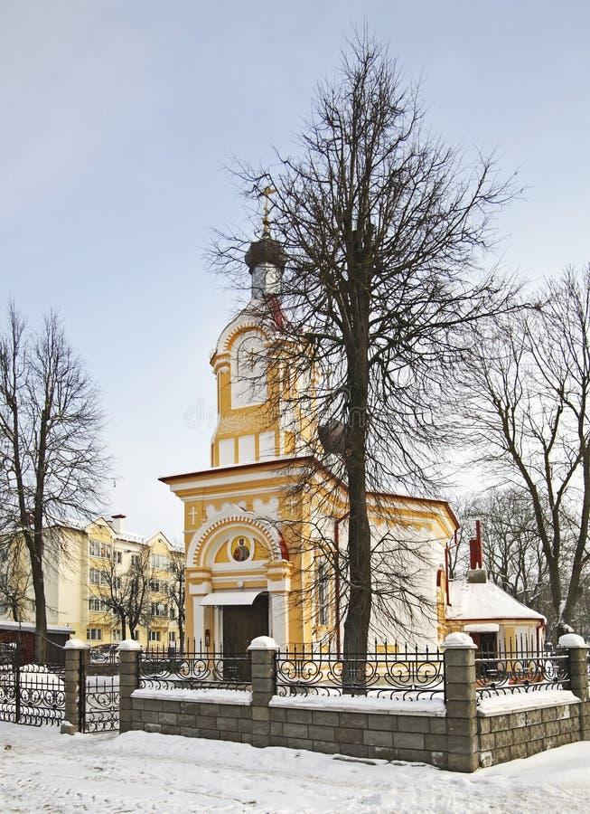 Kerk van Sinterklaas in Vawkavysk wit-rusland stock foto