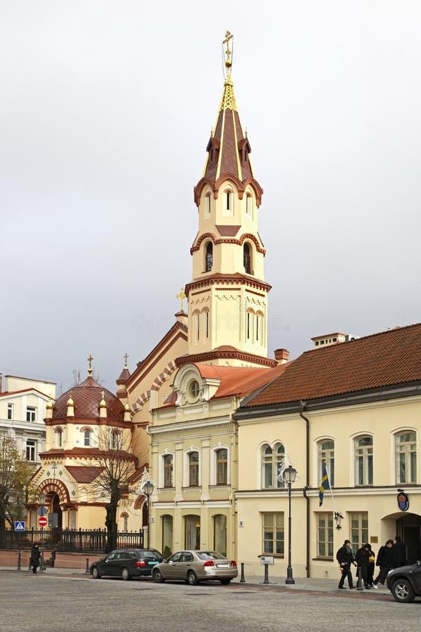 Kerk van Sinterklaas in Vilnius litouwen royalty-vrije stock foto's