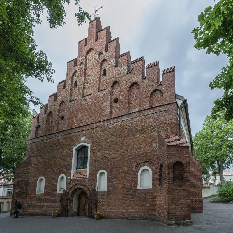 Kerk van Sinterklaas in Vilnius royalty-vrije stock foto