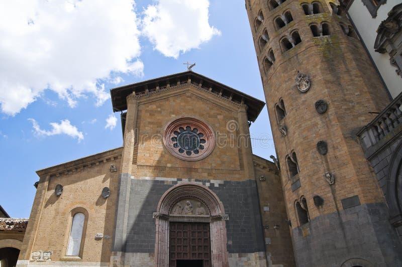 Kerk van St. Andrea. Orvieto. Umbrië. Italië. royalty-vrije stock foto