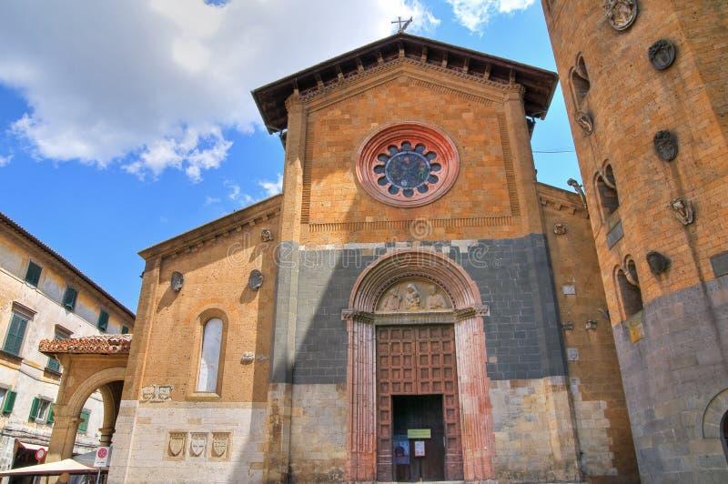 Kerk van St. Andrea. Orvieto. Umbrië. Italië. stock afbeeldingen