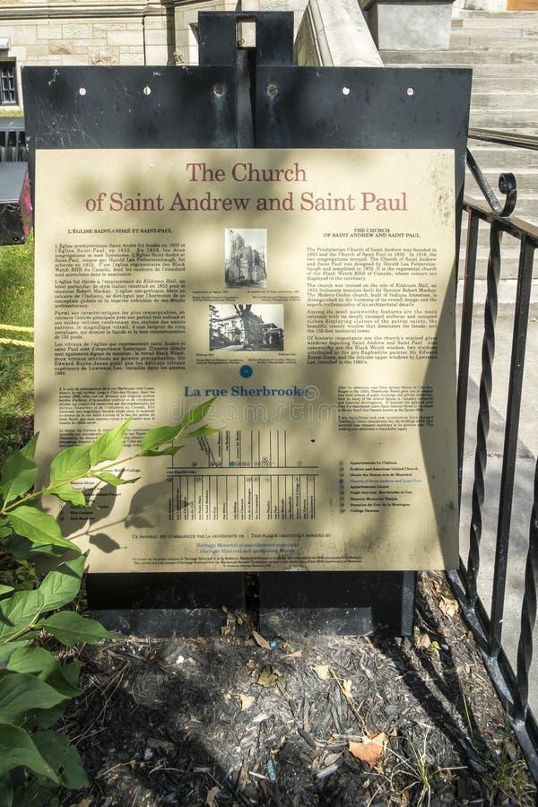 Kerk van St Andrew en St Paul teken royalty-vrije stock fotografie