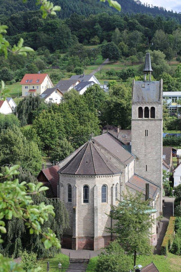 Kerk van St Anna in Sulzbach, Gaggenau, Duitsland royalty-vrije stock foto