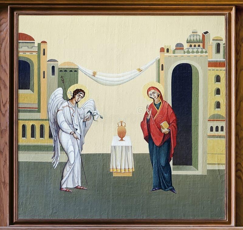 Kerk van St Anne - Aankondiging royalty-vrije illustratie