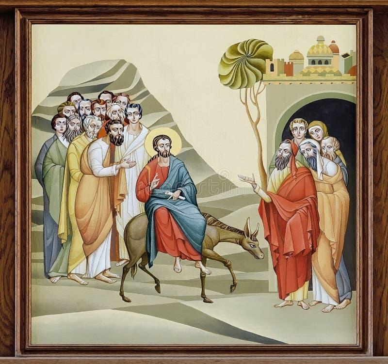 Kerk van St Anne - Palmzondag stock illustratie