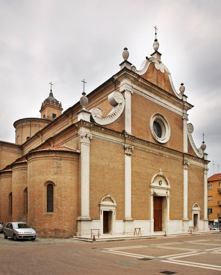 Kerk van St Benedict in Ferrara Italië royalty-vrije stock foto