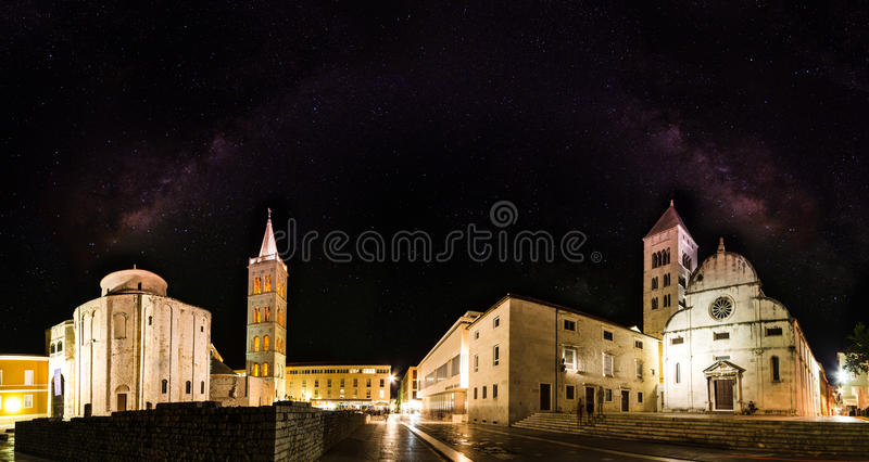 Kerk van St Donat, Zadar, Kroatië stock afbeeldingen