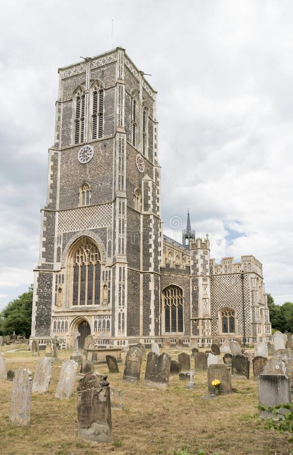 Kerk van St Edmund, Koning en Martelaar, Southwold stock afbeelding