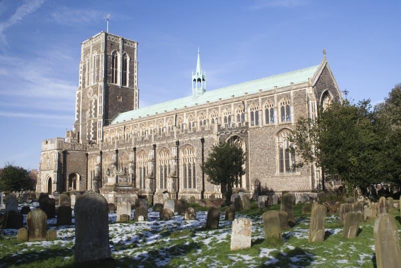 Kerk van St Edmund, Southwold, Suffolk, Engeland stock foto