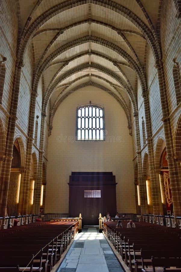 Kerk van St Francis in Evora, Portugal stock foto