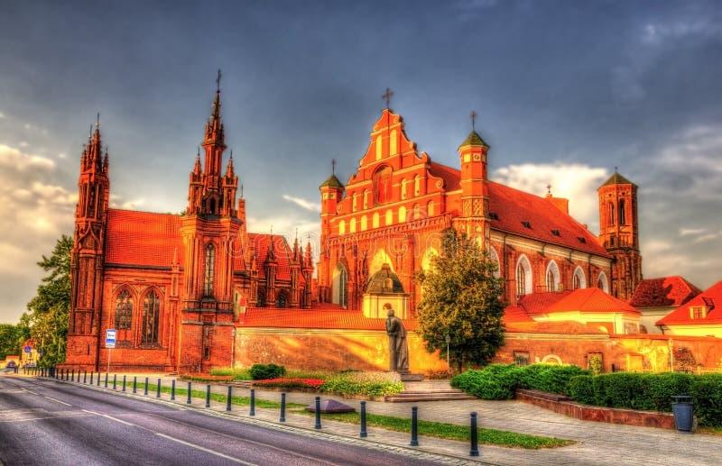 Kerk van St Francis van Assisi in Vilnius royalty-vrije stock afbeeldingen