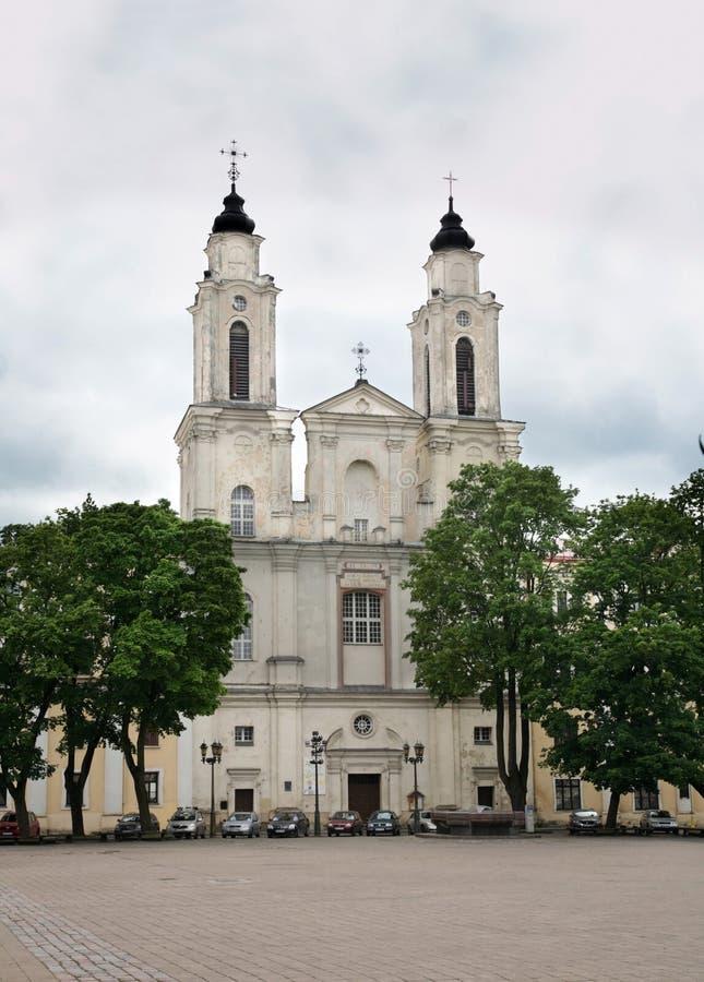Kerk van St Francis Xavier in Kaunas litouwen royalty-vrije stock foto's