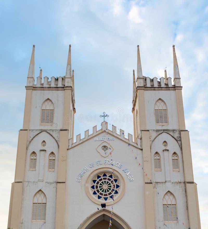 Kerk van St Francis Xavier in Malacca, Maleisië stock afbeelding