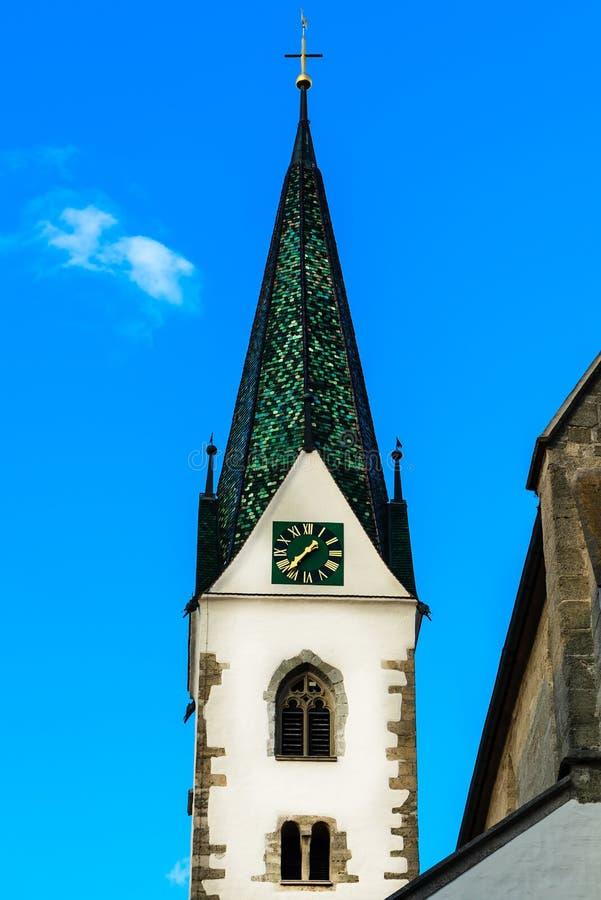 Kerk van St John Baptist Church bij Markt in Slechte Saulgau, Duitsland royalty-vrije stock fotografie