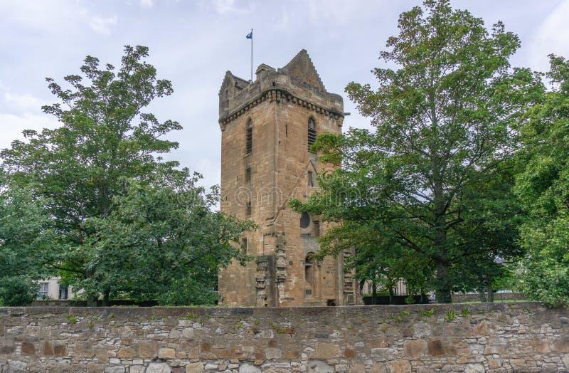 Kerk van St John oude Toren Ayr Schotland royalty-vrije stock foto