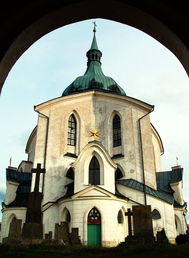 Kerk van St. John van Nepomuk stock fotografie