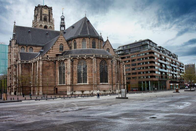 Kerk van St Lawrence in Rotterdam stock afbeeldingen