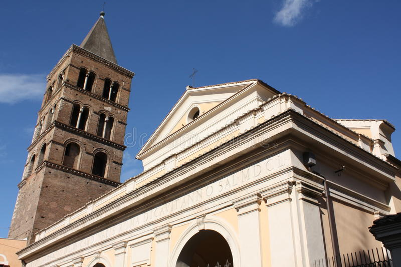 Kerk van St. Lawrence in Tivoli royalty-vrije stock afbeeldingen