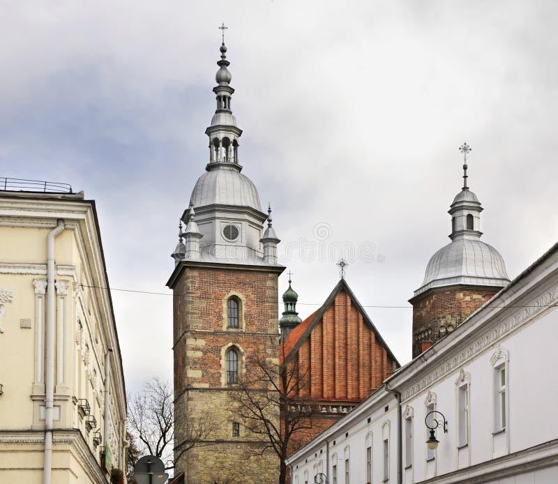 Kerk van St Margaret in Nowy Sacz polen royalty-vrije stock foto