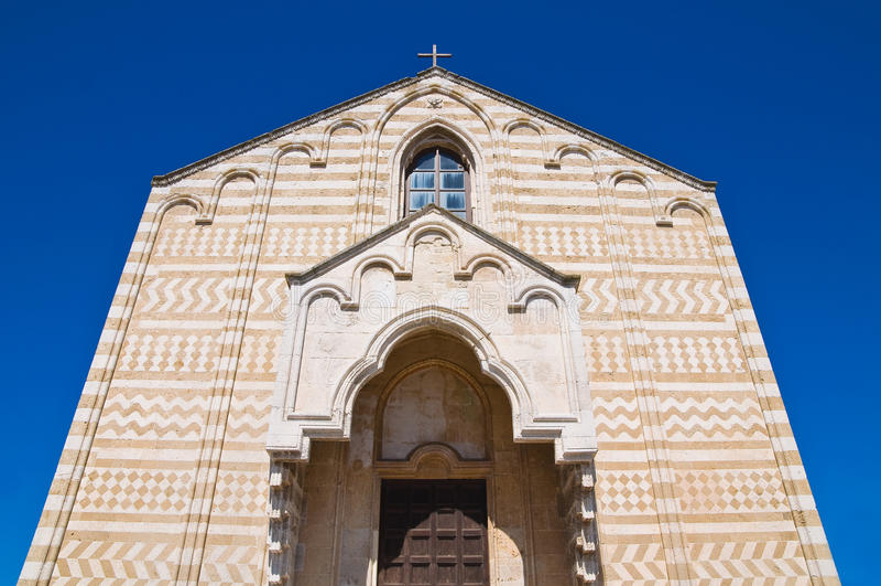 Kerk van St. Maria del Casale. Brindisi. Puglia. Italië. royalty-vrije stock fotografie