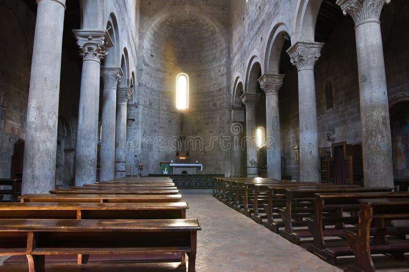 Kerk van St. Maria Nuova. Viterbo. Lazio. Italië. stock fotografie