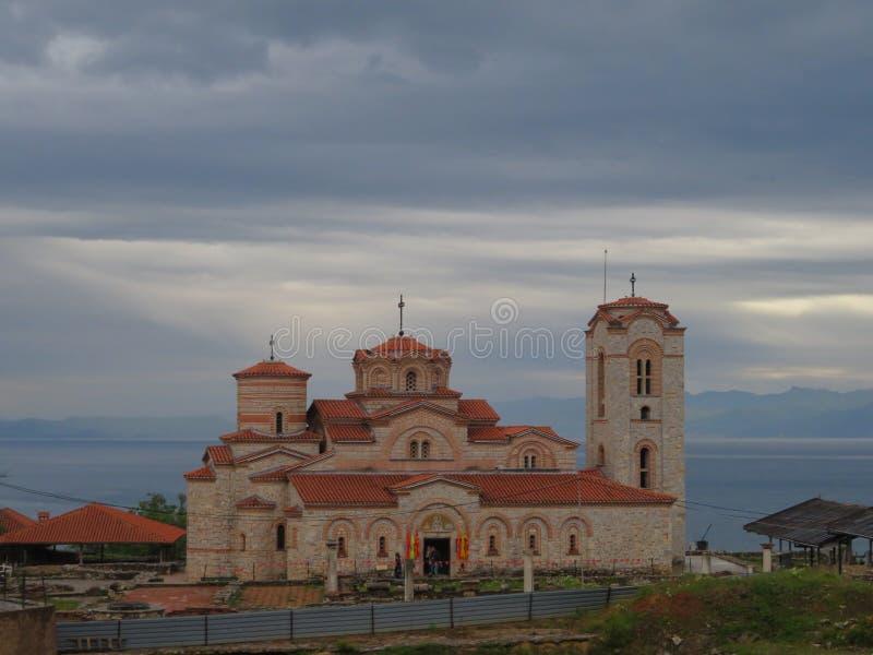 Kerk van St Mild in Ohrid - Noord-Macedonië stock fotografie
