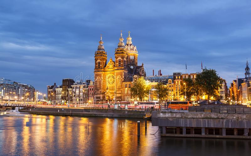 Kerk van St Nicholas Amsterdam Netherland stock foto's