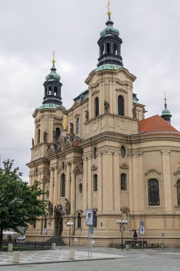 Kerk van st Nicolaus stock afbeeldingen