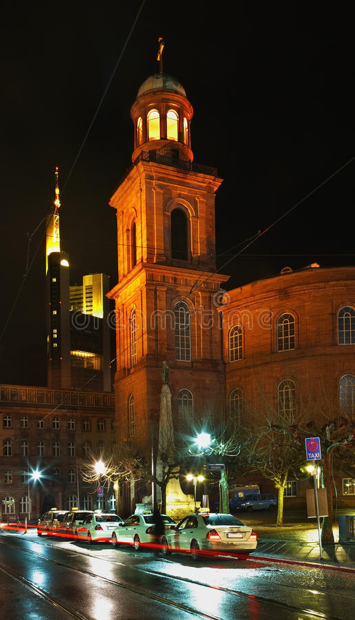 Kerk van St Paul (Frankfurterworst Paulskirche) in Frankfurt-am-Main duitsland stock foto's