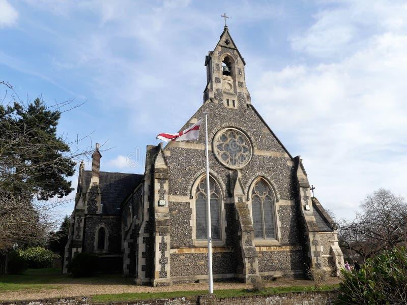 Kerk van St Peter de Apostel, Berry Lane, Molenbeëindigen, Rickmansworth stock afbeelding