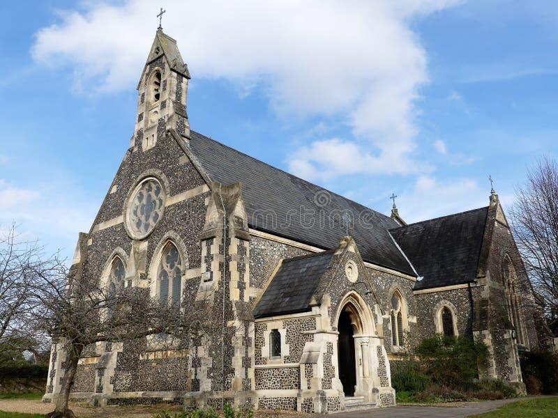Kerk van St Peter de Apostel, Berry Lane, Molenbeëindigen, Rickmansworth royalty-vrije stock afbeeldingen