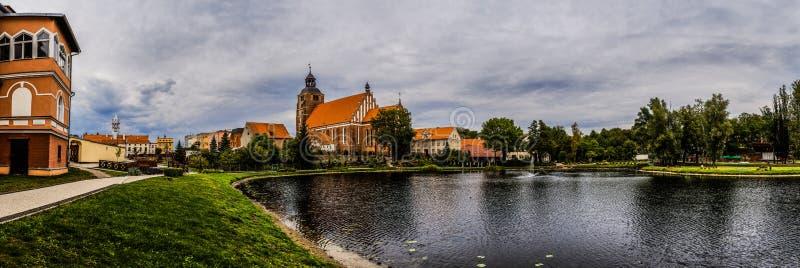 Kerk van Sts Anna in Barczewo, Polen wordt gevestigd dat royalty-vrije stock fotografie