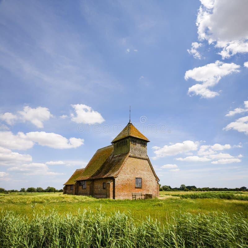 Kerk van Thomas een Touwring, Romney Marsh, Kent royalty-vrije stock fotografie