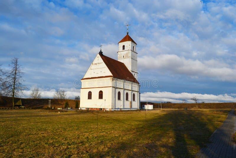 Kerk van Transfiguratie in Zaslavl stock afbeeldingen