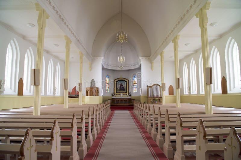 Kerk van Vaag, de Faeröer stock afbeelding