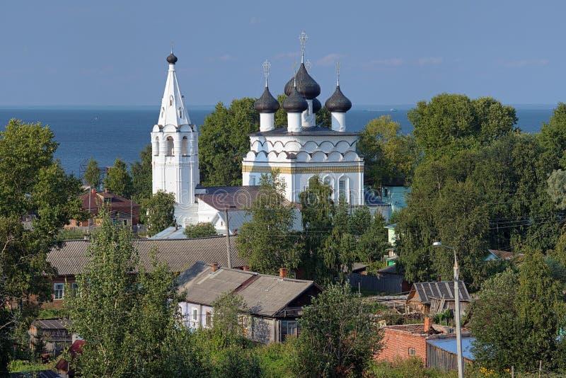 Kerk van Verlosser alle-Mild in Belozersk, Rusland royalty-vrije stock afbeeldingen
