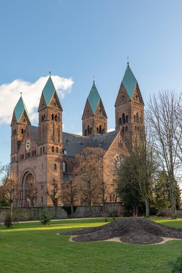 Kerk van Verlosser in Slechte Homburg, Duitsland stock afbeelding