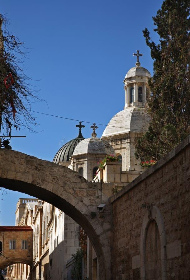 Kerk van Veroordeling en Heffing van Kruis in Jeruzalem israël royalty-vrije stock afbeelding