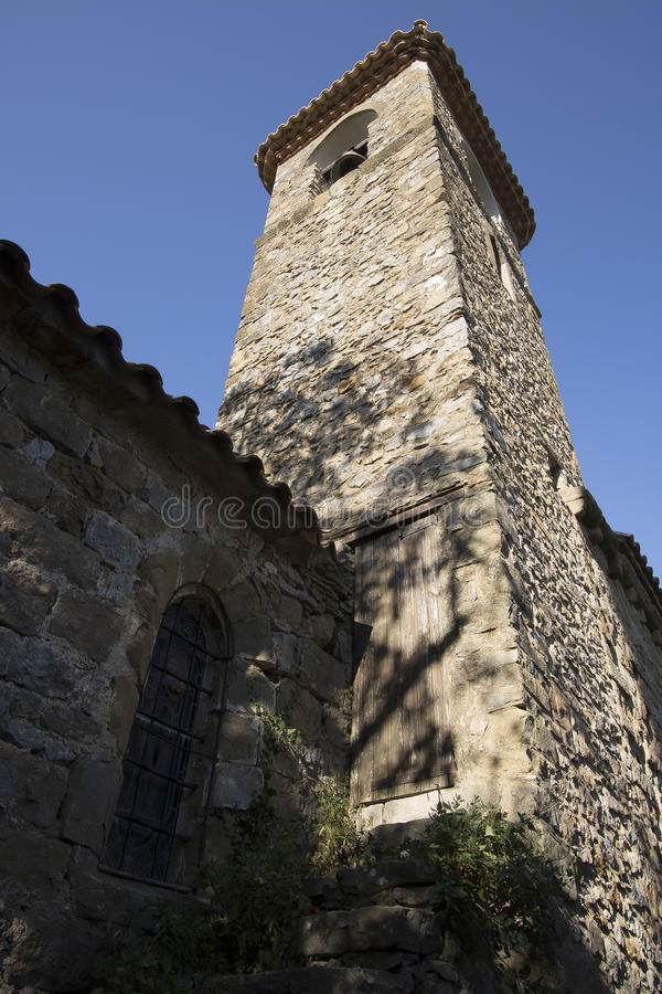 Kerk van Villerouge Termenes, Frankrijk royalty-vrije stock afbeeldingen