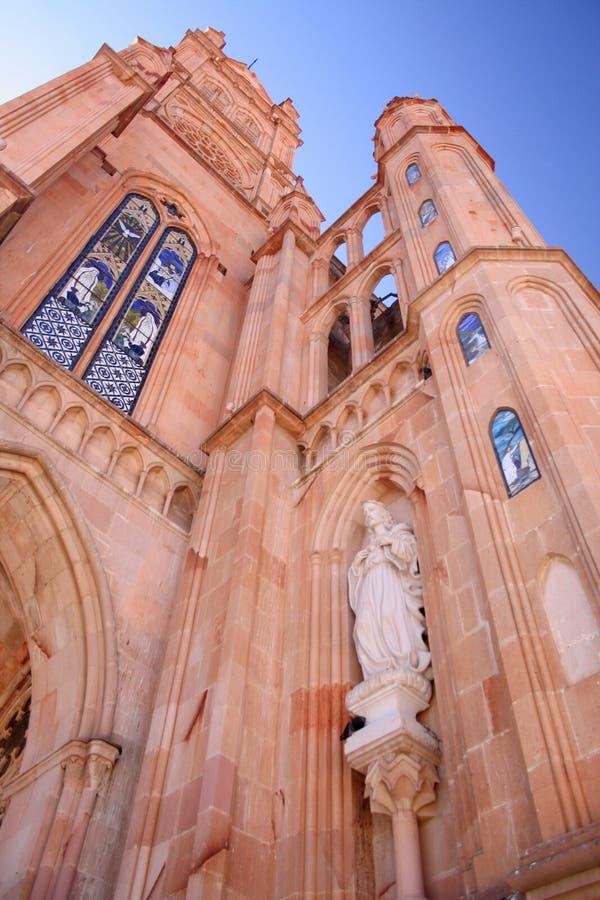 Kerk van zacatecas, Mexico. stock fotografie