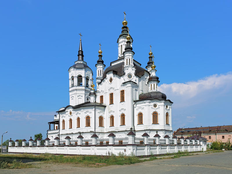 Kerk van Zechariah en Elizabeth in Tobolsk, Rusland royalty-vrije stock afbeeldingen