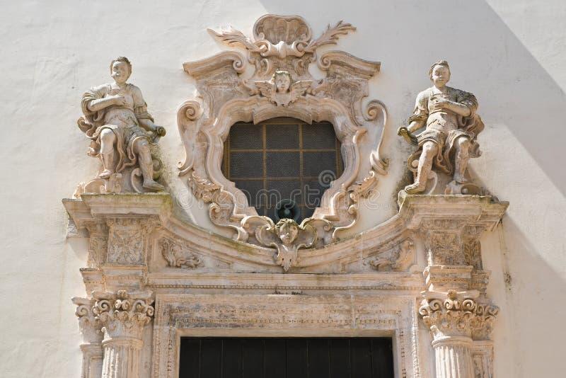 Kerk van Zuiverheid Martina Franca Puglia Italië stock afbeeldingen